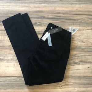 Talbots sz 4p black velvet skinny jeans NEW
